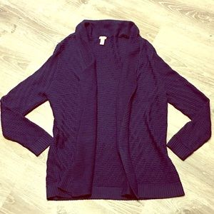 Chico's Navy Blue Knit Cardigan Size XL 16/18